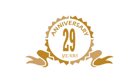 29 Years Ribbon Anniversary Illustration