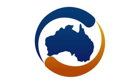 Australia map vector Template
