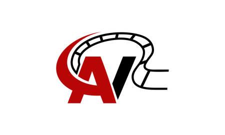 Letter AV Modern Logo Vector illustration.
