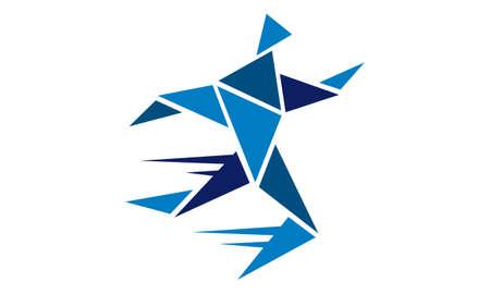 Athlete Run Logo Design Template Vector Illustration