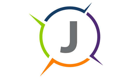 Synergy Solution Process Letter J symbol icon design.