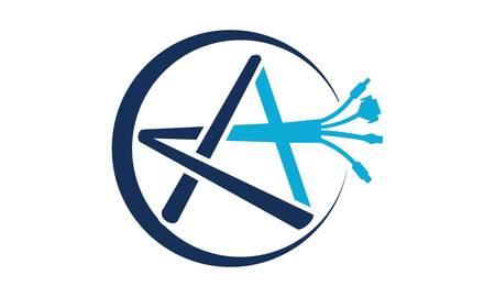 A Plush Cable Logo Design Template Vector 일러스트