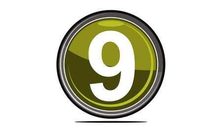 Nine Logo Design Template Vector