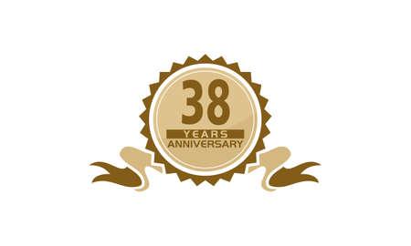 38 Years Ribbon Anniversary