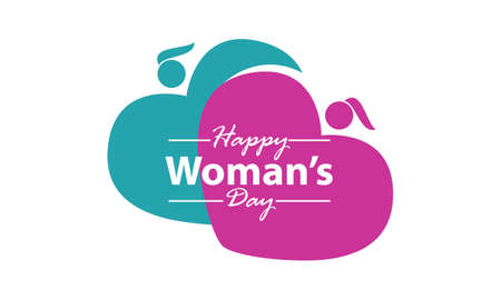 Happy Woman's Day template design illustration. 일러스트