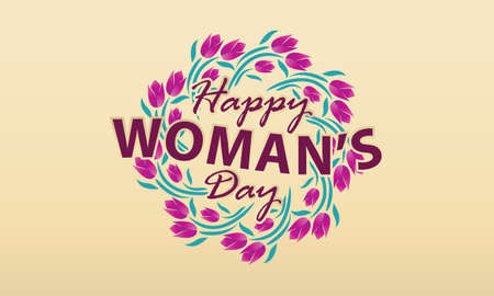 Happy Womans Day template design illustration.