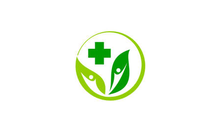 Leaf health icon design template vector illustration. Illustration