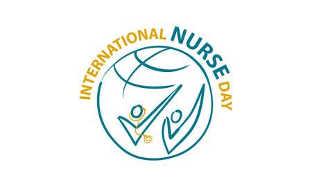 International Nurse Day icon Illustration