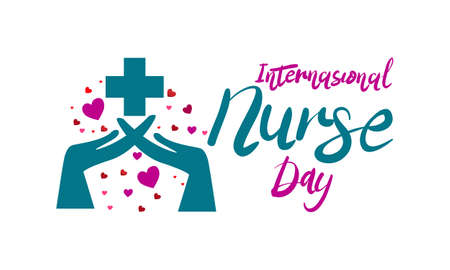 International Nurse Day icon Stock Illustratie