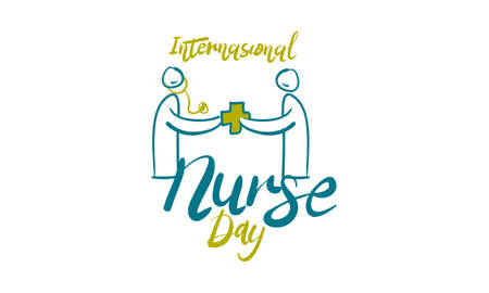 International Nurse Day icon Illustration