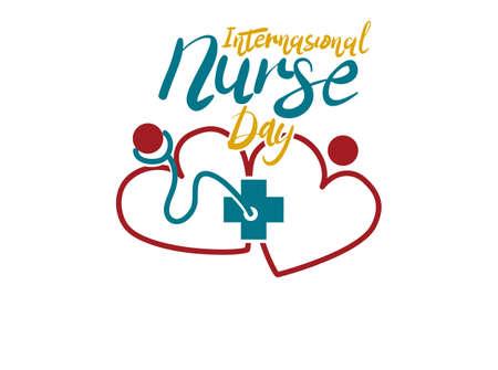 International Nurse Day icon 向量圖像