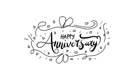 happy anniversary template vector royalty free cliparts vectors