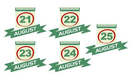 Calendar with Ribbon Set