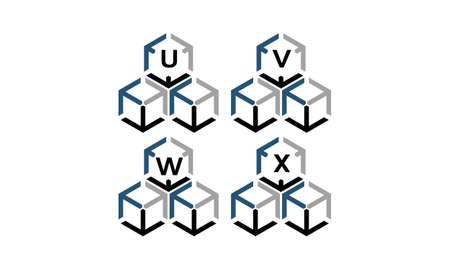 Expedition Marketing Arrow Box Logotipo conjunto