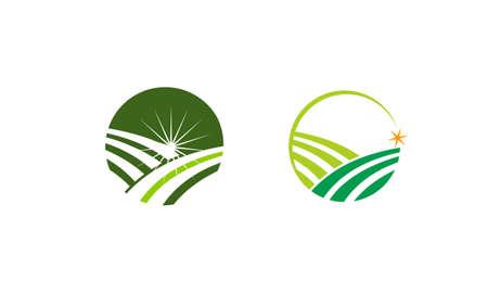 Green Project Solution Center Set Illustration