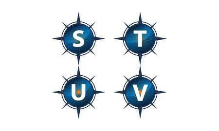 Insights guide letter S, T, U, V template design set illustration. Illustration