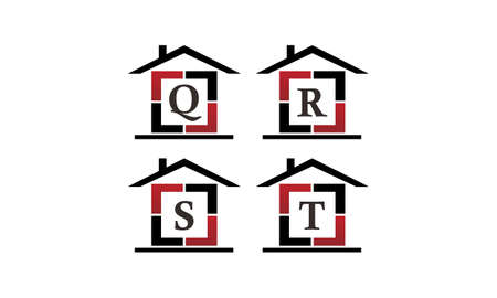 Home Real Estate Solutions Set Illustration