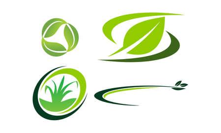 Green Project Logo Template Set