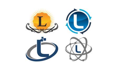 Logotype L Modern Template Set