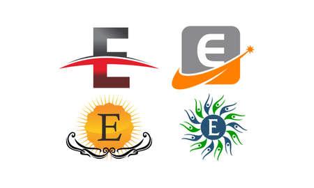 Logotype E Modern Template Set Ilustracja