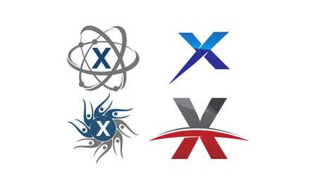 Logotype X Modern Template Set Illustration
