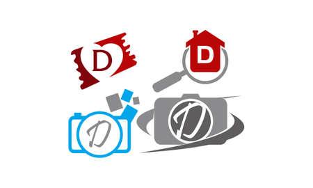 Logotype D Modern Template Set