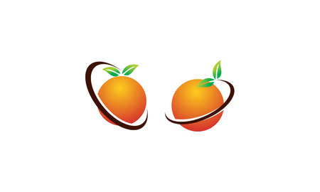 Orange Fruit Template Set