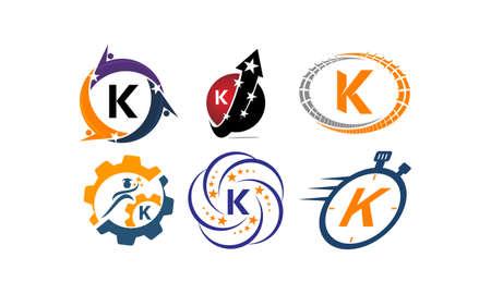 Logotype K Modern Template Set