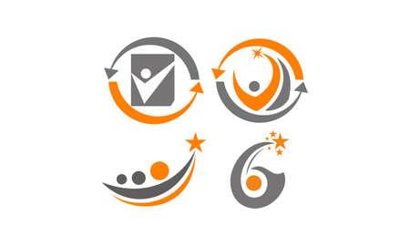 Success Life Coaching icons Set