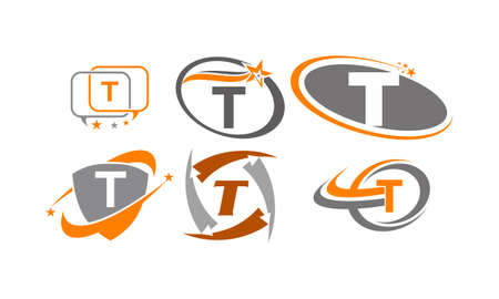 Logotype T Modern Template Set