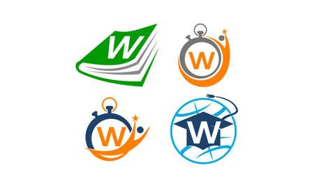 Symbol W Vector Template Set