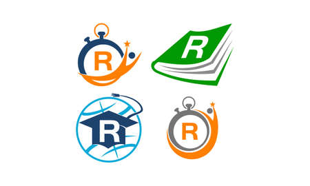 Symbol R Vector Template Set Vektoros illusztráció