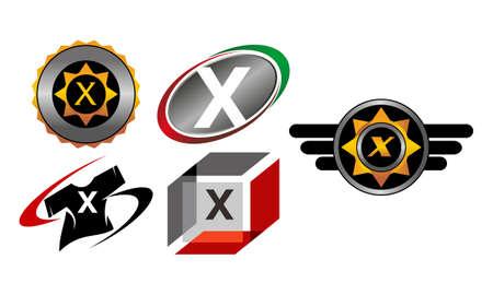 X Modern Template Set illustration design Illustration