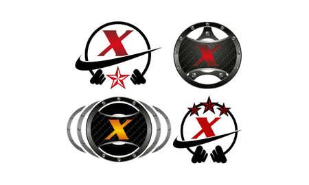 Logotype X Vector Template Set