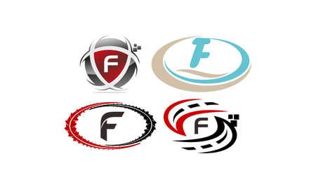 Logotype F Modern Template Set