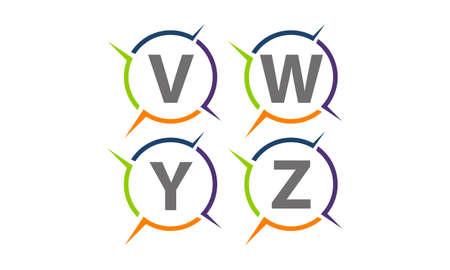 Synergy Solution Process Abbreviation Set Ilustracja