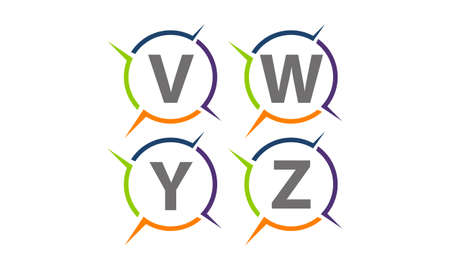 Synergy Solution Process Abbreviation Set Vettoriali