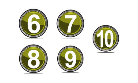 Modern Number Template Set