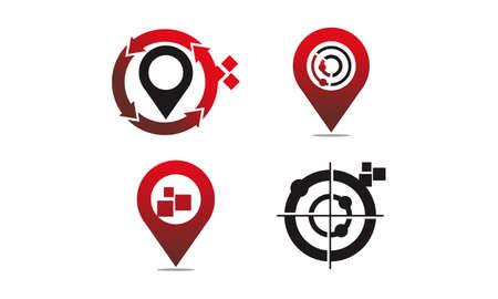 Global Positioning System Set Illustration