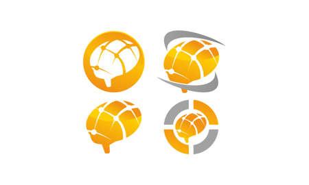 Brain Vector Template Set Illustration