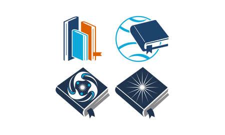 Education Vector Template Set Illustration