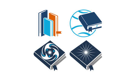 Education Vector Template Set Stock Illustratie