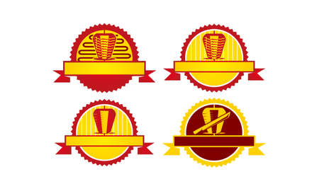 Emblem Kebab icon Template Set