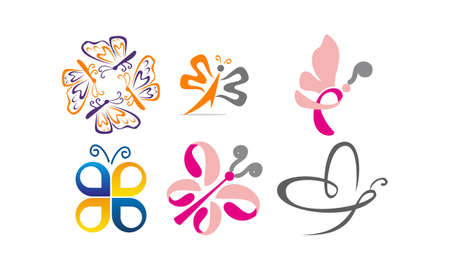 Butterfly Vector Template Set