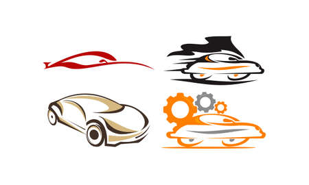 Car Solution Template Set Stock Illustratie