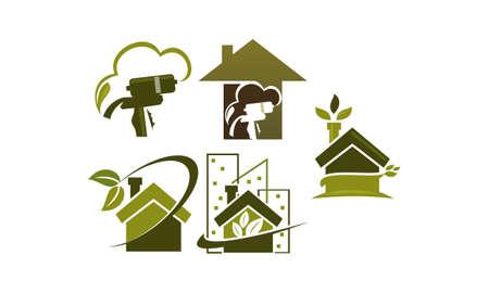 Eco Home Insulation Set Vettoriali