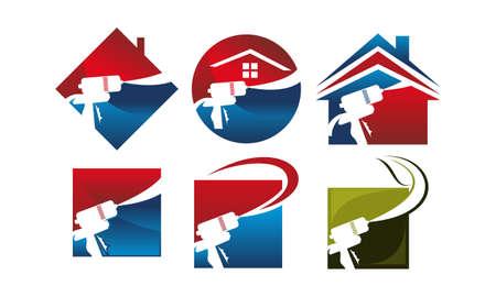 Eco Home Insulation Set  イラスト・ベクター素材