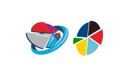 Pie Chart Analyze Vector Set