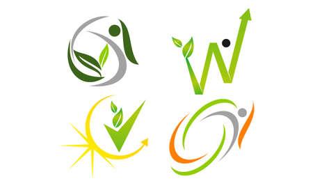 Leaf Health Template Set Illustration