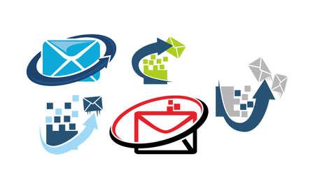 E-mail Marketing App template set for logos
